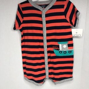 Carter's One Pieces - Carter's infant one piece snap up romper size 12m